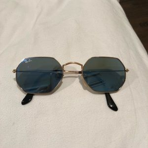 c632cfa7c8 Ray-Ban Accessories - Ray bans blue and gold OCTAGONAL FLAT LENSES